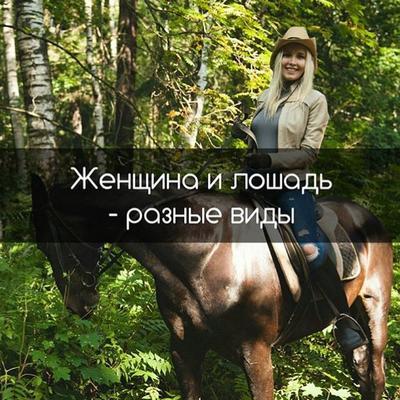 Женщина и лошадь - разные виды